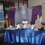 Angela James' Golden Moonbeam display at Avebury